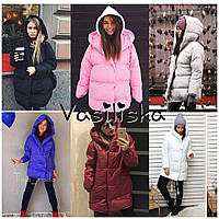 Женская зимняя  тёплая куртка,  на кнопках, в расцветках