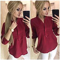 Женская блуза с карманами из штапеля , фото 1