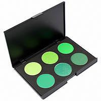 Набор теней для век 6 цветов Beauties Factory Eyeshadow Palette #07 - FOREST