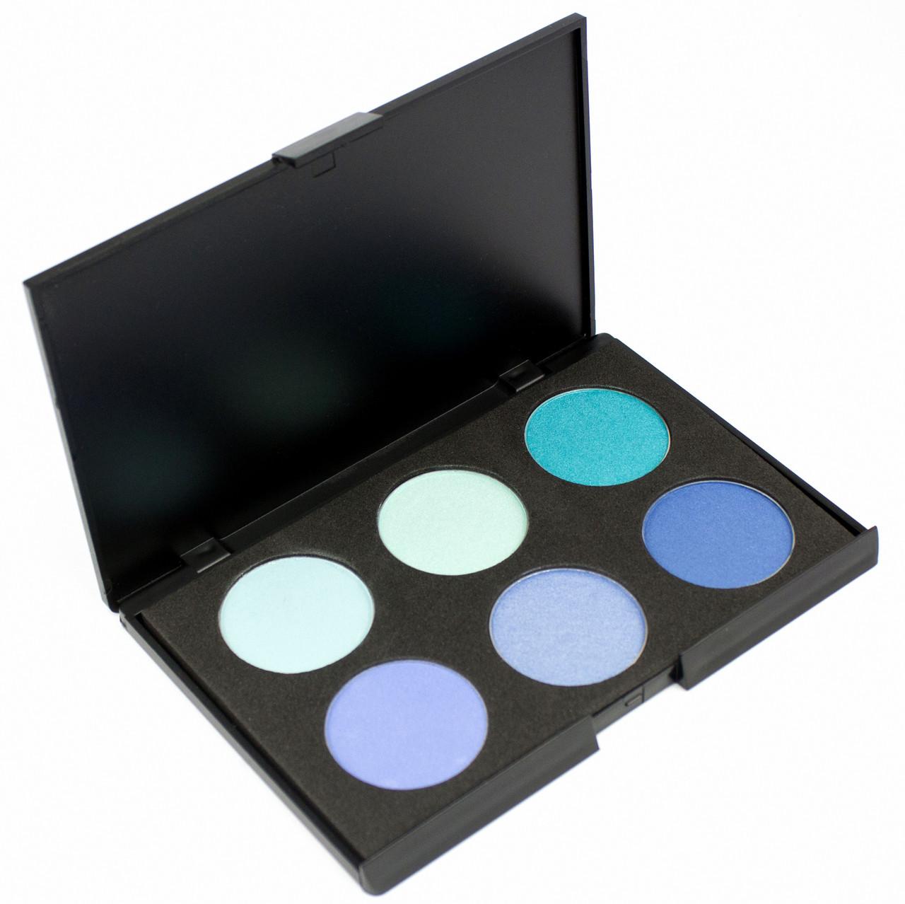 Набор теней для век 6 цветов Beauties Factory Eyeshadow Palette #06 - EMERGING OCEAN, фото 1