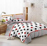 Полуторный комплект постельного белья 150*220 сатин (8227) TM KRISPOL Україна