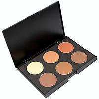 Набор теней для век 6 цветов Beauties Factory Eyeshadow Palette #01 - CAMOUFLAGE, фото 1