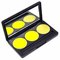 Набор теней для век 3 цвета Beauties Factory Eyeshadow Palette #23 - CHROME YELLOW, фото 1