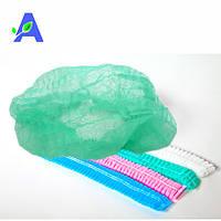 Шапочки-гармошки зелёные одноразовые 100 штук в упаковке