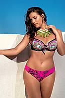 Женский купальник с розовым принтом Amarea 17159 50 Малиновый Amarea 17159