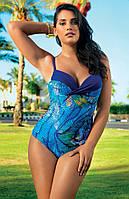 Совместный купальник Amarea 17236 46 Синий