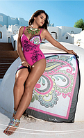 Совместный купальник с плотной чашкой Amarea 17158 46 Малиновый