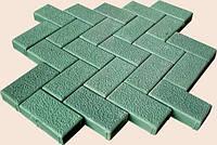 Формы для тротуарной плитки «Кирпичик шагрень» глянцевые пластиковые АБС ABS
