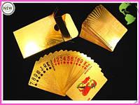 Карты игральные покерные 100 долларов золото Код:101842