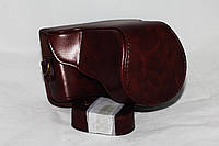Защитный футляр - чехол для фотоаппаратов CANON EOS M10 - кофе
