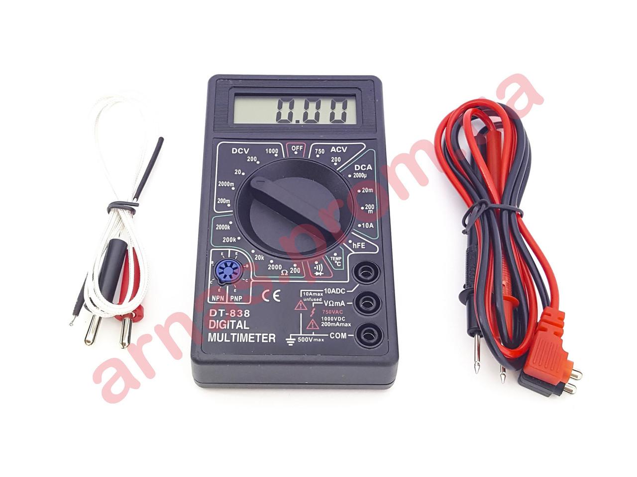 Мультиметр (тестер) DT838 цифровой