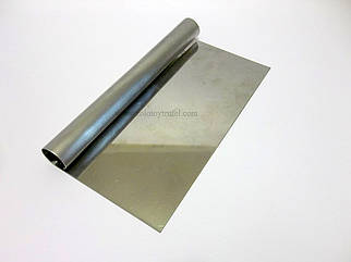 Скребок прямоугольный 23*10 см из нержавеющей стали