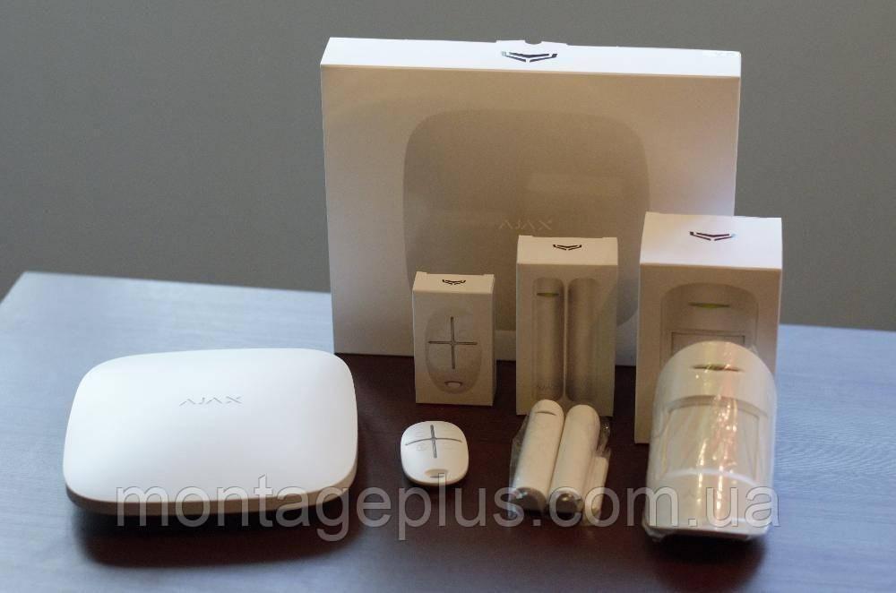 Охоронна GSM сигналізація Ajax Starter Kit, білий