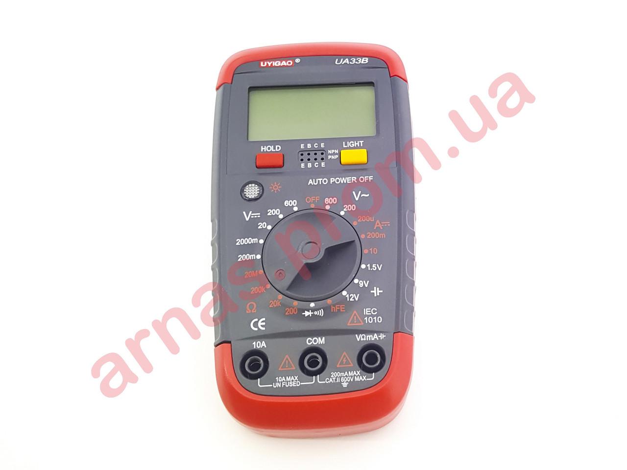 Мультиметр (тестер) UA33B цифровой