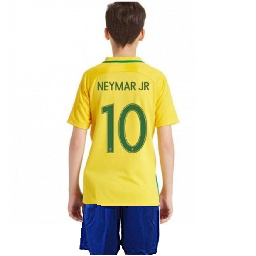 Детская футбольная форма сборной Бразилии по футболу (№10 Неймар)