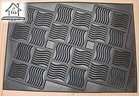 Резиновый грязезащитный коврик 65*45 см К009