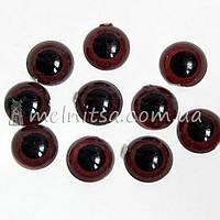 Глазки для игрушек живые, коричневые, 8 мм