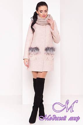 Женское теплое зимнее пальто (р. S, М, L) арт. Ажен зима 18092, фото 2