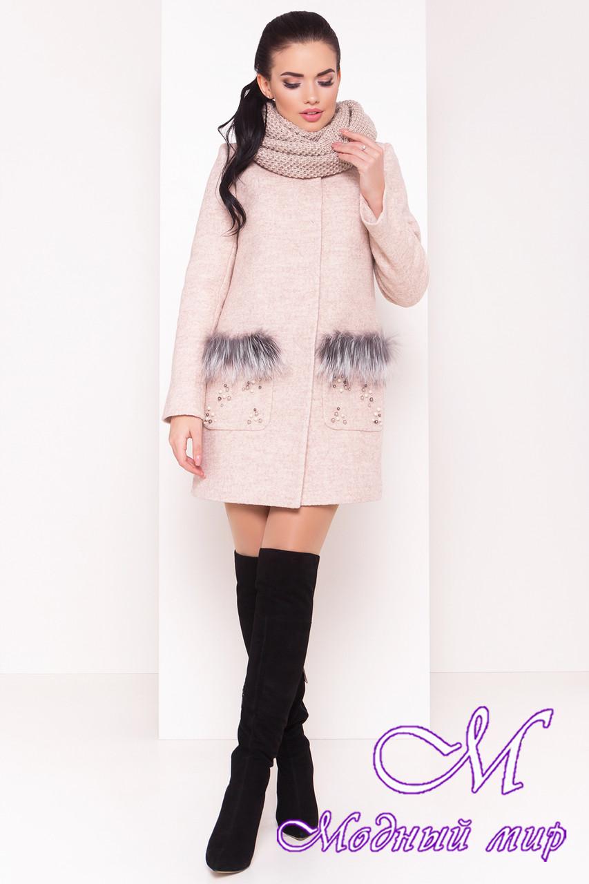Женское теплое зимнее пальто (р. S, М, L) арт. Ажен зима 18092