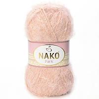 Турецкая пряжа для вязания Nako Paris (Париж) лебяжий пух - 10390 желтоватая пудра