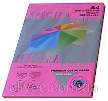 """Бумага офисная цветная """"Spectra Color Cyber HP Red"""" 100 л. А4, 80 г/м2"""