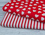 Ткань бязь с разносторонними сердцами на красном фоне, № 942, фото 8