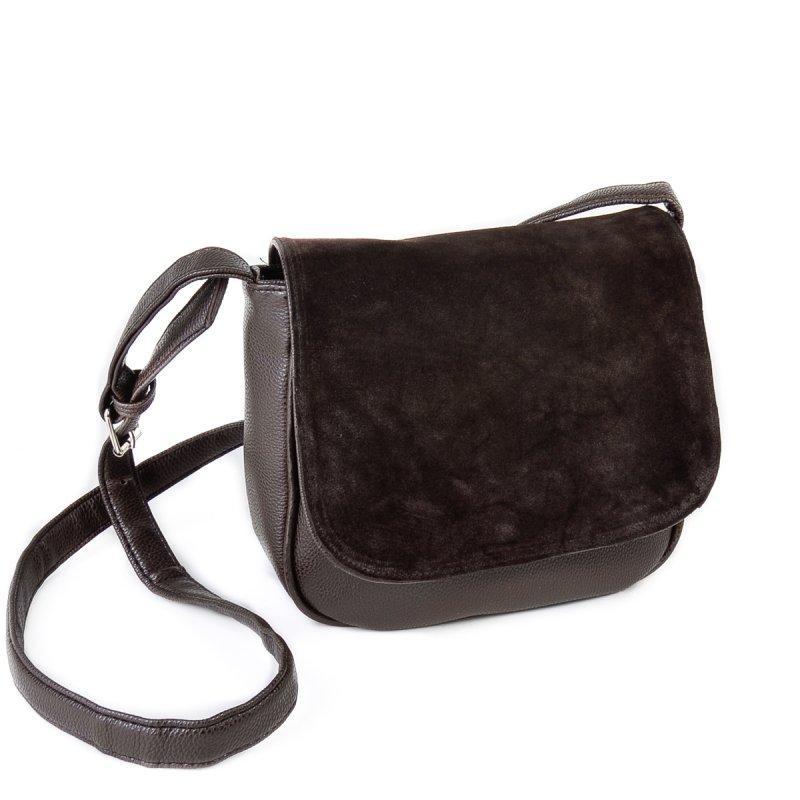 9ed322119397 Коричневая замшевая сумка М52-40/замш кросс-боди молодежная через плечо -  Интернет