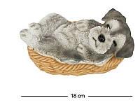 Щенок Шнауцера в корзине 18 см