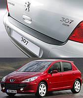 Накладка заднего бампера Peugeot 307 2000-2007 , фото 1