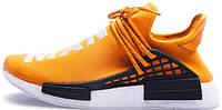 Женские кроссовки Pharrell Williams x Adidas NMD Human Race Orange