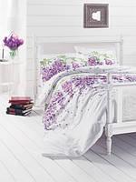 Постельное белье ранфорс полуторка First Choice Wisteria lila