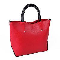 Красная сумка М75-68/47 с черными вставками