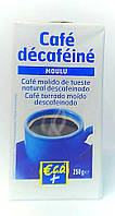Кофе молотый без кофеина Cafe decafeine 250г (Франция)