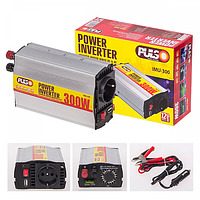 Преобразователь напряжения 12V-220V/300W/USB-5VDC0.5A/клеммы /прикур.Pulso IMU 300