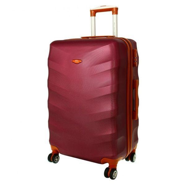 Чемодан дорожный сумка Exclusive (средний) вишневый