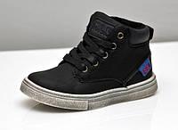 Демисезонные ботинки M.L.V для мальчика черные 22-27рр