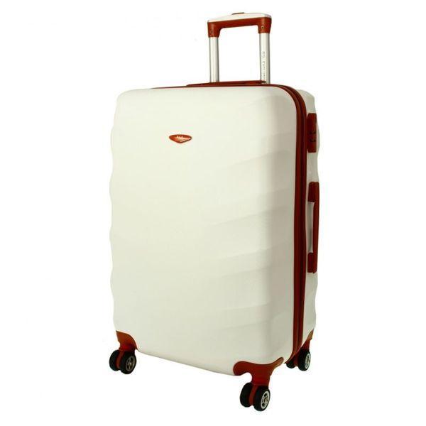 Чемодан дорожный сумка Exclusive (средний) снежный