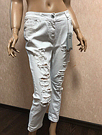 Белые рваные джинсы Eiki, L
