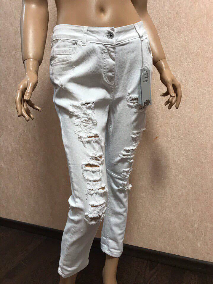 ec54a7d4511 Белые рваные джинсы Eiki