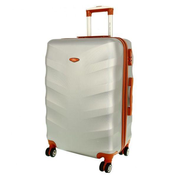 Чемодан дорожный сумка Exclusive (средний) серебряный