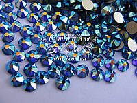 Стразы клеевые ss20 Sapphire AB, Xirius, NEW, 16 граней, 100шт. (5,0мм)