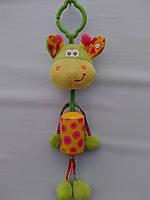 Игрушка-подвеска жираф с колокольчиком