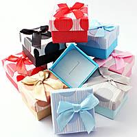 Подарочная коробочка для кольца  и серьг - Крупный горох