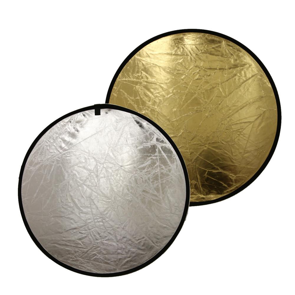 Двусторонний отражатель, фото отражатель, рефлектор 2в1 золото+серебро