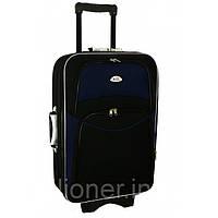 Чемодан дорожный сумка 773 (средний) черно-т.синий