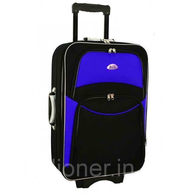 Чемодан дорожный сумка 773 (средний) черно-синий