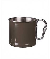 Кружка стальная 500мл с карабином MilTec Olive 14608202