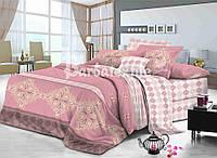 Комплект шикарного постельного белья ткань сатин евро размера