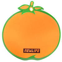 """Доска разделочная пластик """"Апельсин"""" 27*28 см."""