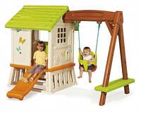 """Дом """"Сладкие мечты"""" с горкой и качелями, 220х160х163 см, 2+"""